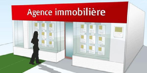 Source d'information immobilière : la vitrine d'agence, devant le site internet