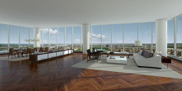 """Vue d'un penthouse du """"0ne 57""""..."""