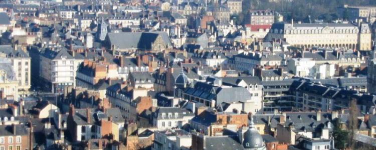 Il existe de très fortes disparités de la capacité d'achat immobilier des ménages en France entre les villes françaises (Photo Rennes).