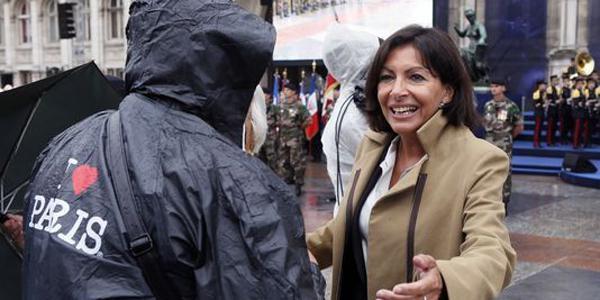 Anne Hidalgo lors des commémorations du 69e anniversaire de la libération de Paris, le 25 août. Paris-immobilier-politique