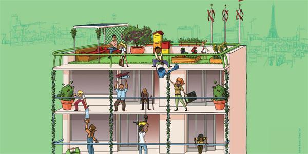 La Ville de Paris lancera le 26 mai 2014 un appel à projets pour la réalisation des trois premiers immeubles d'habitat participatif.